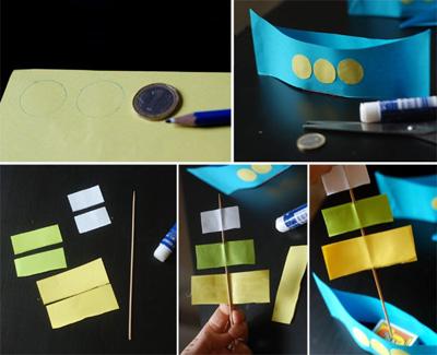 Как сделать корабль из бумаги