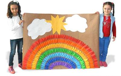 Как сделать из бумаги радугу