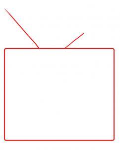 Как нарисовать телевизор
