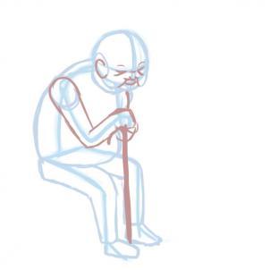 Как нарисовать старика