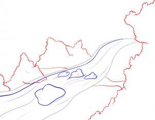 Как нарисовать реку