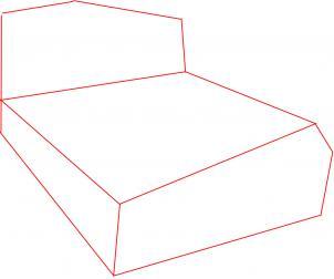 Как нарисовать кровать