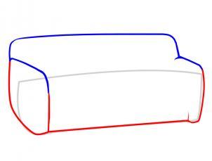 Как нарисовать диван