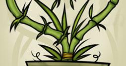 Как нарисовать бамбук