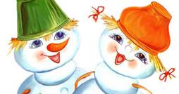 Найди отличия - Снеговики