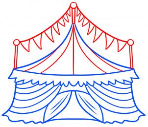 Как нарисовать цирк