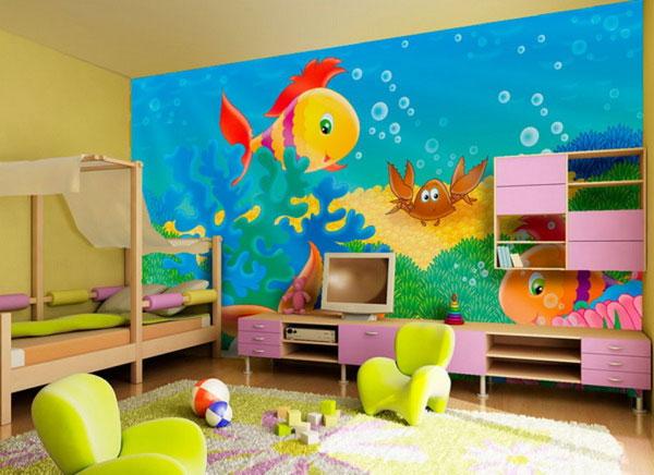 Какие обои выбрать для детской комнаты