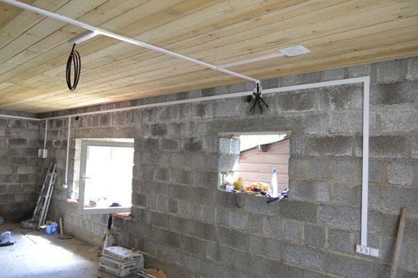 Электропроводка и освещение в гараже