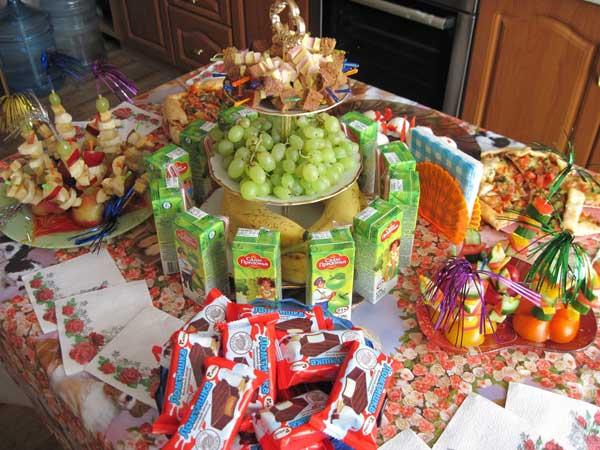 детский праздничный стол рецепты фото