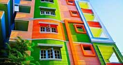 Какую выбрать краску для фасада здания