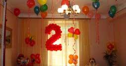 Как оформить воздушными шарами комнату