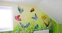 Оформление детской комнаты: варианты росписи стен