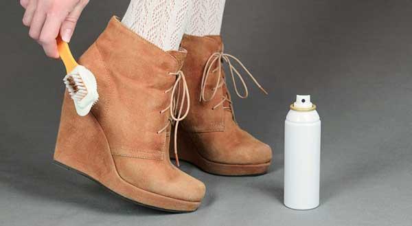 Правила чистки обуви из нубука