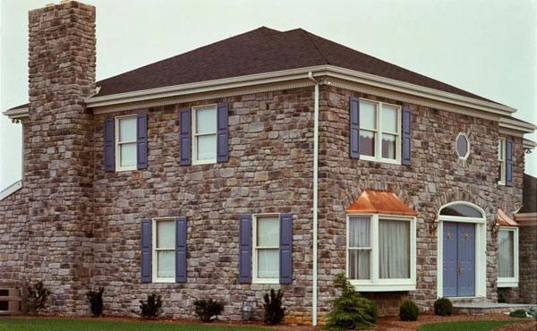 Как облицовывают фасады камнем