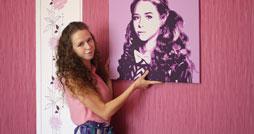 Портреты в стиле поп-арт на холсте