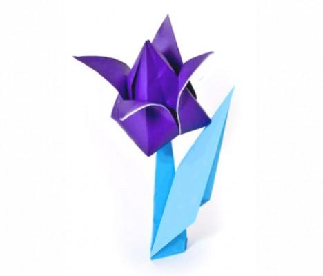 Оригами - тюльпан